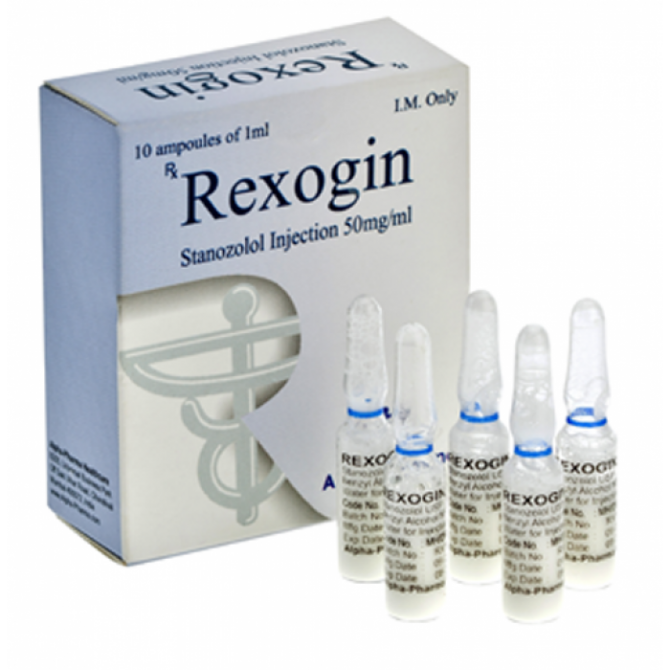 Rexogin ( 10 ampoules (50mg/ml) - Stanozolol injection (Winstrol depot) )