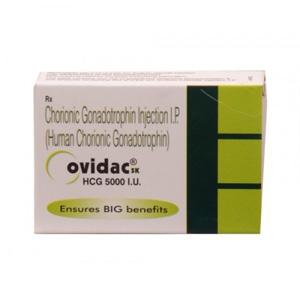 Ovidac 5000 IU ( 1 vial of 5000IU - HCG )