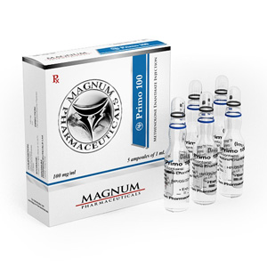 Magnum Primo 100 ( 5 ampoules (100mg/ml) - Methenolone enanthate (Primobolan depot) )